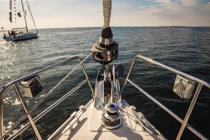 Motiv: Forstævnen af en båd