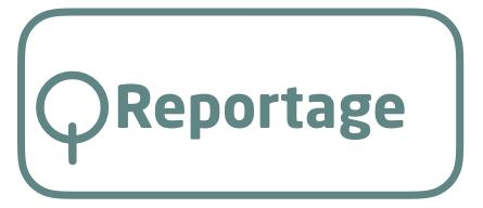 Motiv: Boks med teksten 'reportage'