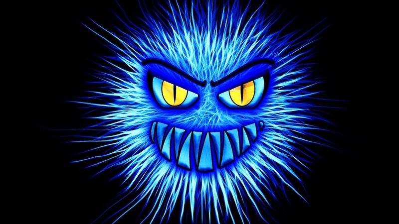 blåt monster